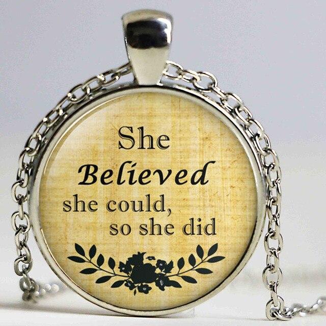 She angenommen she könnte so she haben halskette inspirierend zitat ...