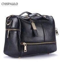 CHISPAULO Frau Tasche 2017 Luxus Marke Designer Frauen Echtem Leder Handtaschen Mode-taschen Für Frauen Messenger Crossbody Tasche X39