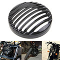 """Black 5 3/4"""" Aluminum Motorcycle Headlight Grill Cover for 2004-2014 Harley Sportster XL 883 1200 Motorbike Head light Cover"""