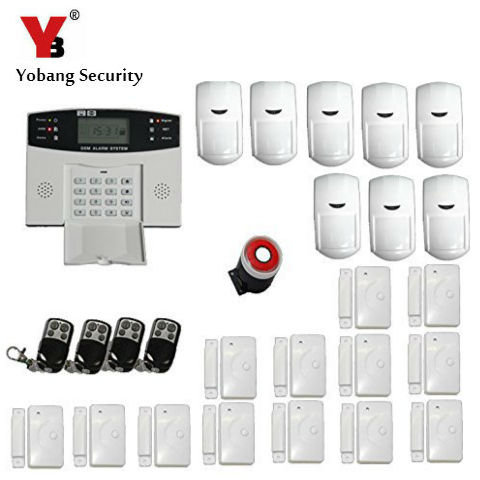YobangSecurity GSM SMS Wireless Voice Home House Alarm Security System Engli Smoke Fire Detector Russian Spanish French Italian new 433mhz wireless smoke detector es d5a gsm rfid home alarm system etiger s4