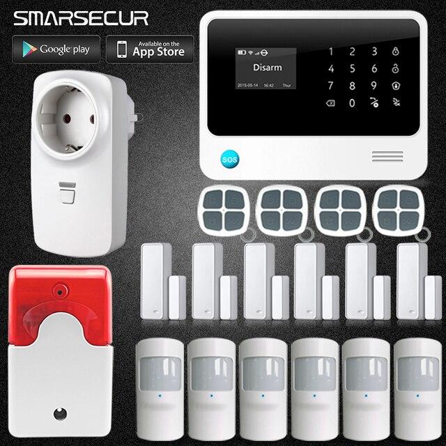Домашний дизайн G90B плюс Wi Fi 2 г 3g GSM сенсорная аварийная система Комплект английский Spansih русский умный дом GSM охранная для варианта
