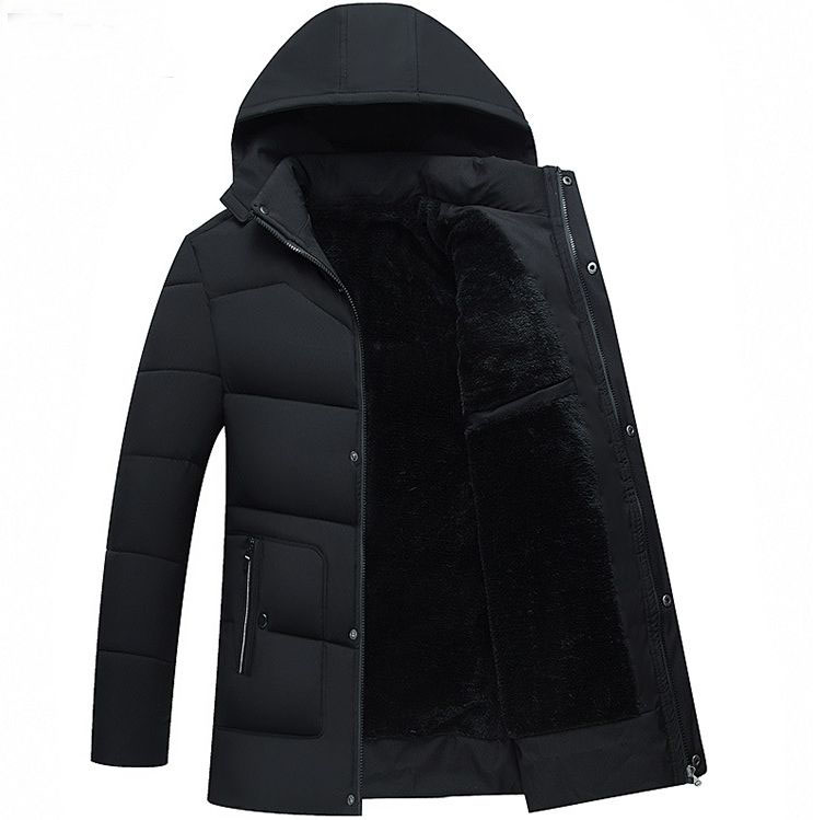 HCBLESS New 2018 Men Jacket Coats Thicken Warm Winter Jackets Casual Men   Parka   Hooded Outwear Cotton-padded Jacket
