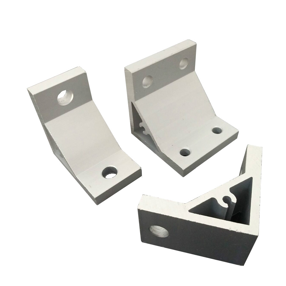 2 Hole 6060/<font><b>8080</b></font> L type 90 Degree inner connector Corner Angle Bracket Connection Joint Strip for Aluminum <font><b>Profile</b></font> DIY Part image