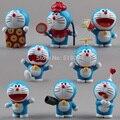 Anime Cartoon Doraemon Lindo Mini PVC Altura Modelo Juguetes Muñecas 8 unids/set DRFG031 Niños Juguetes Regalos De Navidad
