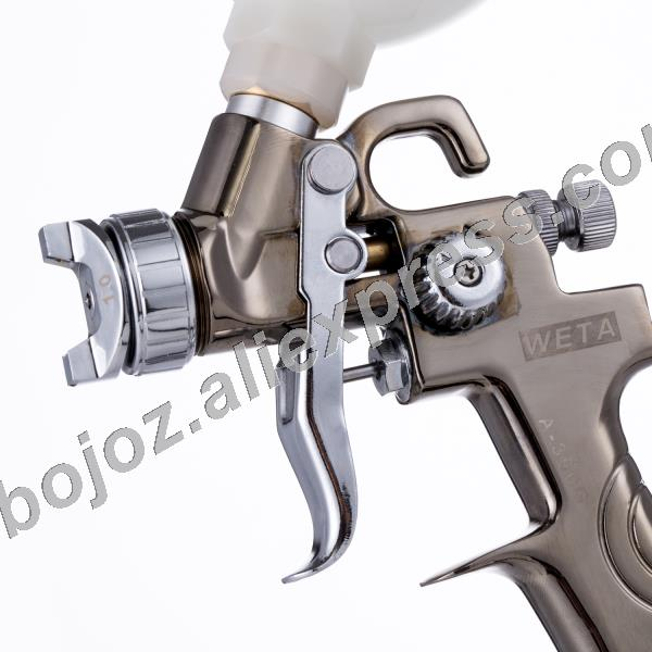 Air Spray gun Gravity FEED HVLP Mini SPRAY GUN Touch up 1.0mm Nozzle with 250cc cup Repair sprayer