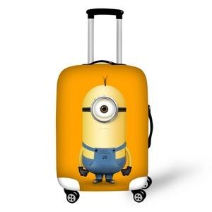 Мультяшный Дизайн Гадкий я, защитный чехол для багажа 18-32 дюймов, чехол с миньонами, чехол на молнии, Толстый эластичный чехол