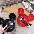 Чаши Посуда Меламина шар Микки форма блюдо Мультфильм пластина Разделения фрукты лук ребенок посуда