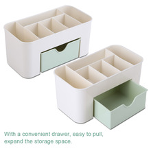 Multifunctional Desk Organizer Desktop Storage Box Case Pen Pencil Holder Plastic Cosmetics Make Up Organizer Container