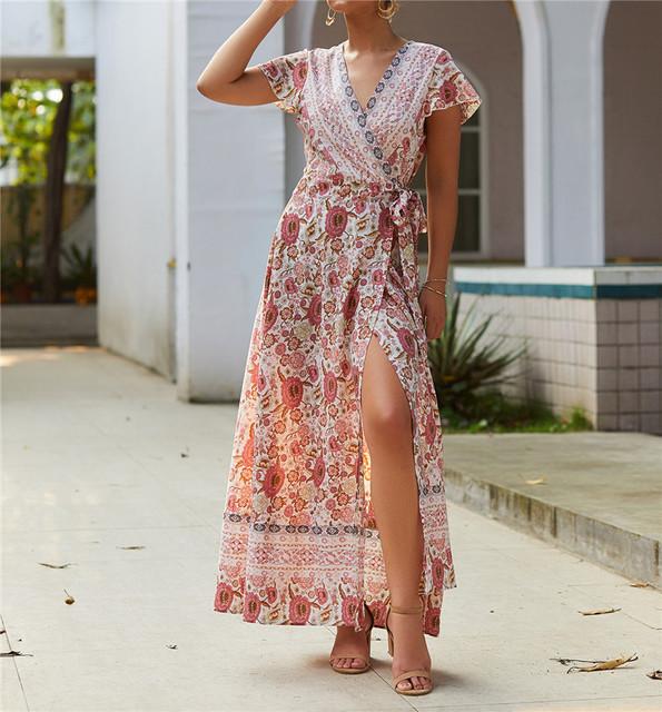SEXY V NECK BOHO DRESS (7 VARIAN)