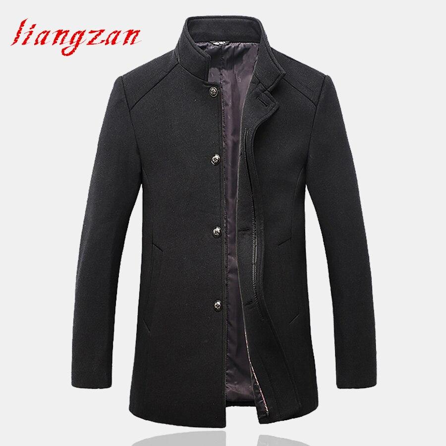 Men Medium-long Woolen Coats New Arrival Autumn Winter Slim Fit Overcoats Brand Plus Size L-4XL Casual Wool Jacket Coats SL-F028