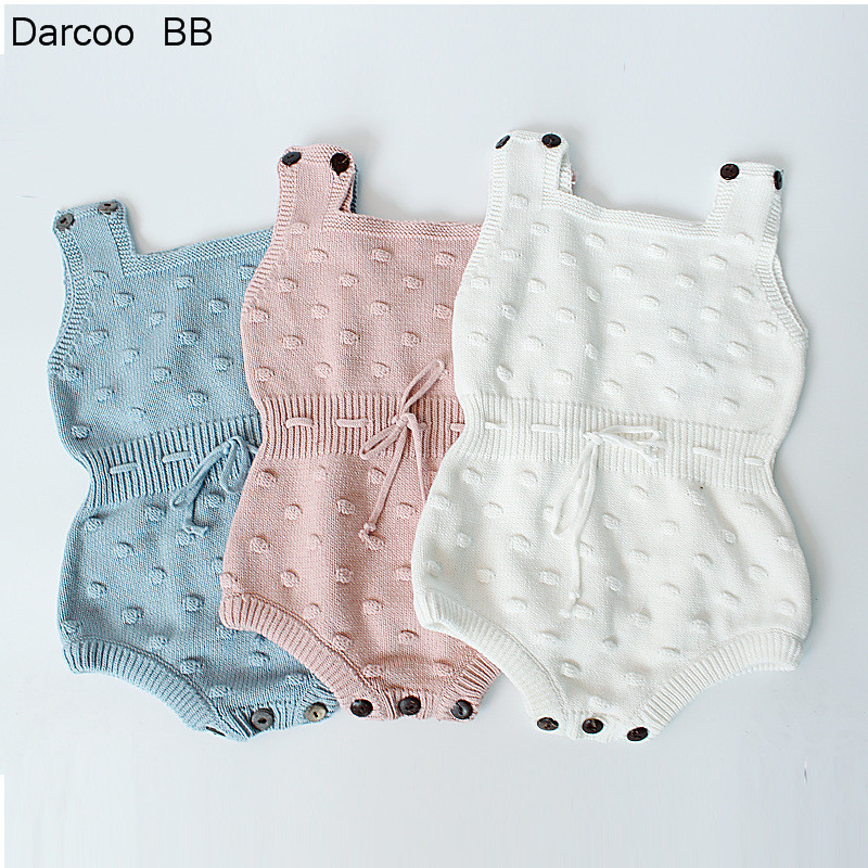 2018 Autumn Winter New Style Baby Girls Knitted Rompers Baby Girls Baby Jumpsuit Newborn Clothing Ropa Bebes Baby Boy Clothes remote switch trigger for canon eos 1d mark ii 1ds mark ii n more