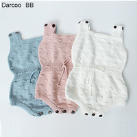 2018 Autumn Winter New Style Baby Girls Knitted Rompers Baby Girls Baby Jumpsuit Newborn Clothing Ropa