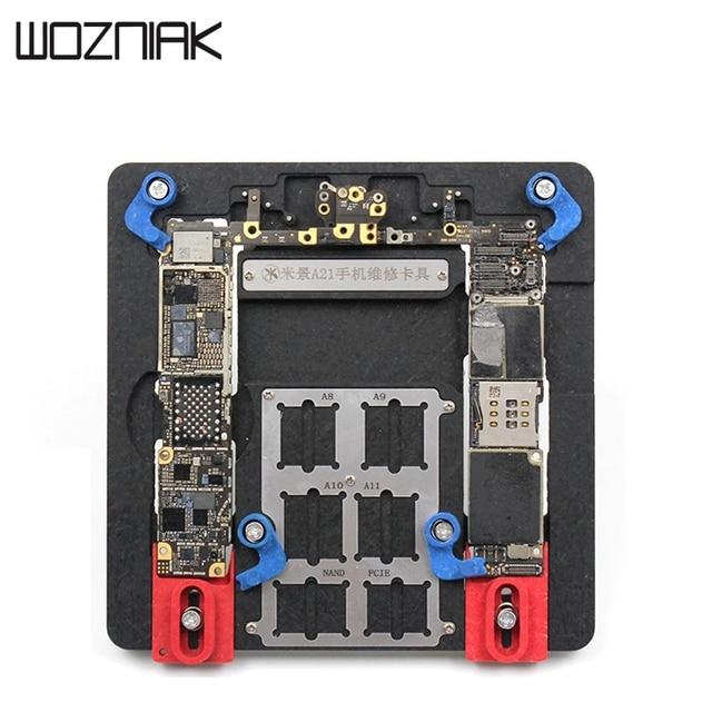متعددة الوظائف PCB اللوحة حامل لاعبا اساسيا آيفون 5s/6G/5P/6S/6SP/7/7P/8/8P مايكرو لحام محطة إصلاح أداة تحديد