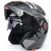 Мотоцикл JIEKAI шлемы безопасный двойной козырек ECE DOT флип шлем мото гонки 4 сезона мото r цикл Мото шлем