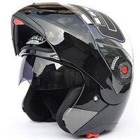 Jiekai Moto rcycle kaskları güvenli çift Visor ECE DOT Flip up kask casque moto yarış 4 sezon moto r döngüsü MOTO kask