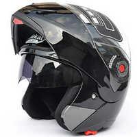 Jiekai moto rcycle casques coffre-fort Double visière ECE DOT Flip up casque casque moto course 4 saison moto r cycle moto casque