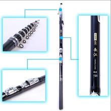 Buy 99% carbon fiber fishing rod 3.6 / 4.5 / 5.4 / 6.3 / 7.2m Spinning Fishing Rod M Power Telescopic Rock Fishing Rod
