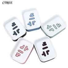 CTREE Home Creative Double Draining Soap Dish Box Plastic Kitchen Bathroom Accessories Set Holder Portable Non-slip C85