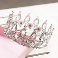 New Handmade Bride Rhinestone Crystal Crown Round Wedding Accessories Hair Korean Style Headdress Item NO 0910