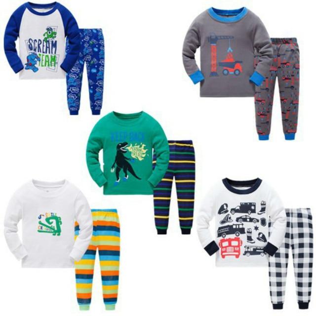 0ad1dfaac Syue Moon Boys Pajamas Sets Kids Monster Dinosaurs Pyjamas Children ...