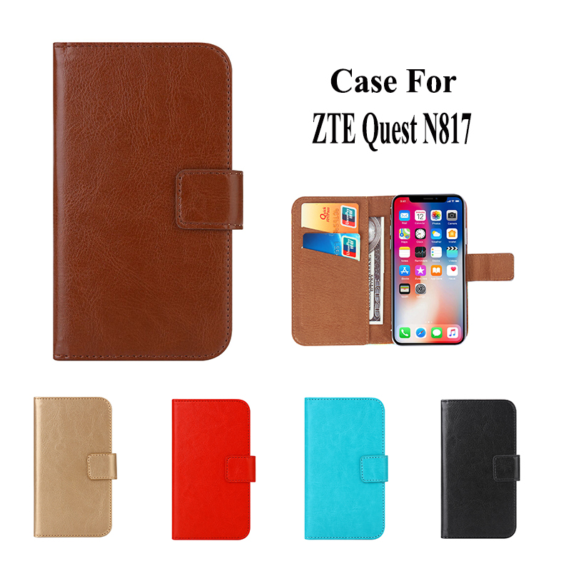 brand new 7e90c 2f1f7 Case For ZTE Quest N817 case high quality Pure Color Luxury Flip Leather  Fashion Case Mobile Phone Bag-in Flip Cases from Cellphones & ...