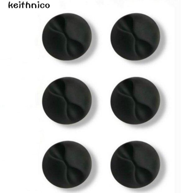 KEITHNICO 6Pcs Desktop Cable Organizer Cable Winder Wire Drop ...