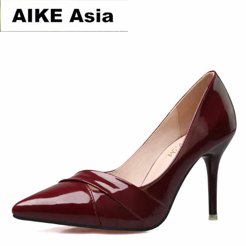 2017 г. новые модные женские туфли лодочки на высоком каблуке классические белые