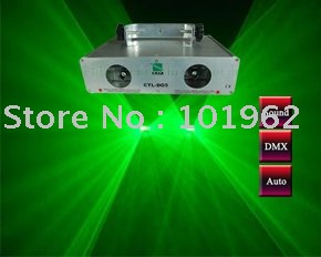 Moving head Double 50mW+50mW 532nm Green Laser Light DMX Sound Auto Stage Light---Free Shipping