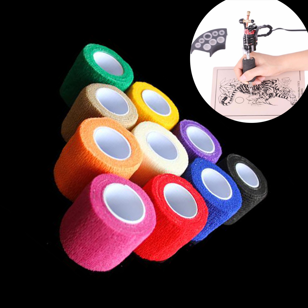 6pcs Tattoo Self Adhesive Elastic 5cm Wide Elbow Tattoo Handle Bandage Nail Tapes Finger Protection Wrap Non-slip Cloth Tape6pcs Tattoo Self Adhesive Elastic 5cm Wide Elbow Tattoo Handle Bandage Nail Tapes Finger Protection Wrap Non-slip Cloth Tape