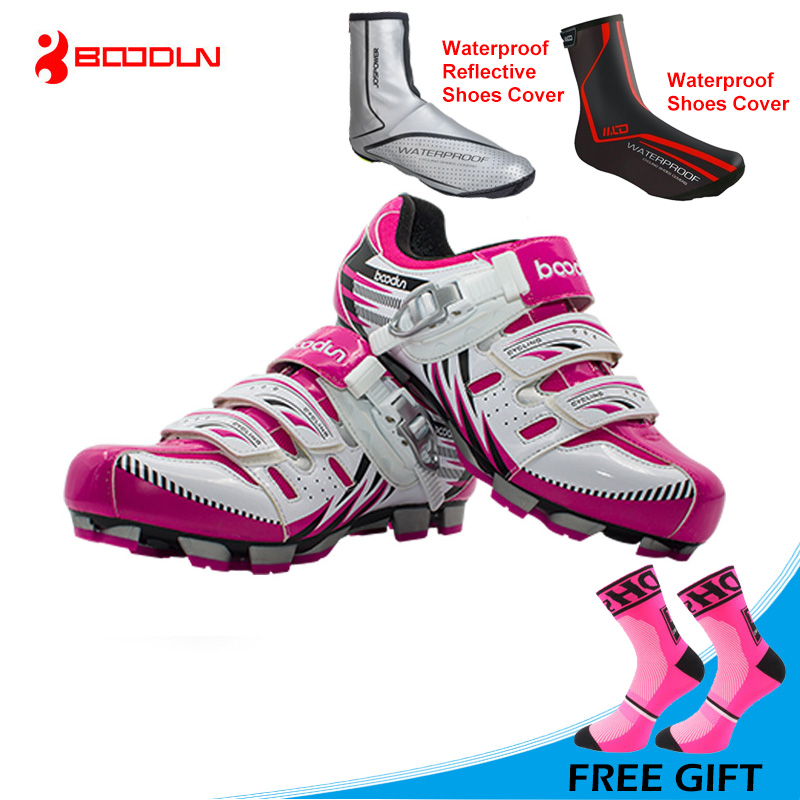 BOODUN 2017 New Women MTB Shoes Breathable Mountain Bike Shoes Bicycle Shoes Sneakers Auto-lock Shoes Zapatos de ciclismoBOODUN 2017 New Women MTB Shoes Breathable Mountain Bike Shoes Bicycle Shoes Sneakers Auto-lock Shoes Zapatos de ciclismo
