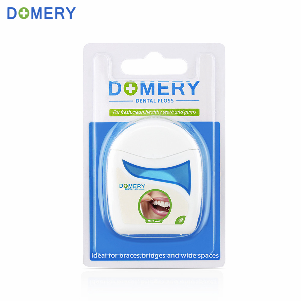 Domery 50m / pc Dentes Zahnseide Zahnstocher Interdentalbürste für Oral Clean Zahnpflege Hygiene Kit