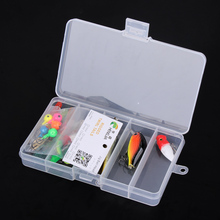 16pcs Mixed Fishing Lures Set Soft Bait Artificial Bait Sequins Lures Lead Treble Hooks with Fishing Baits Storage Box
