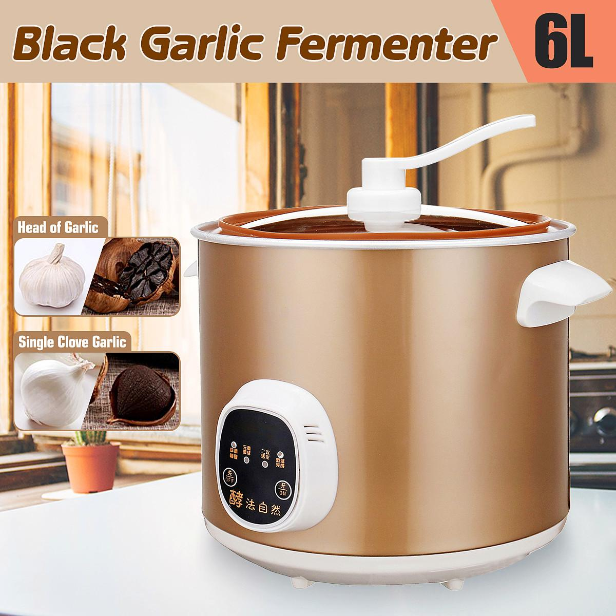 70W Automatic Intelligent Black Garlic 6L Fermenter Household Diy Zymolysis Pot Maker 220V Black Garlic Fermenting Machine Tools