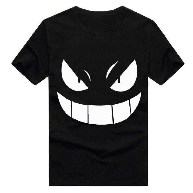 Pocket Monster Pokemon Gengar Хлопок Мультфильм Аниме Косплей Костюм Летний Стиль С Коротким Рукавом футболки футболка Для Мужчин