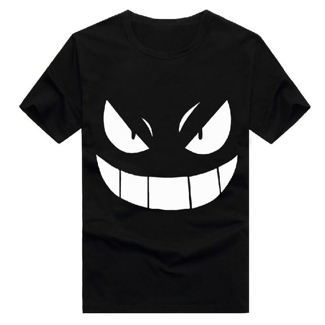 Pocket Monster Pokemon Gengar Cotton Cartoon Anime Cosplay Costume Summer Style Short Sleeve t-shirt T Shirt For Men