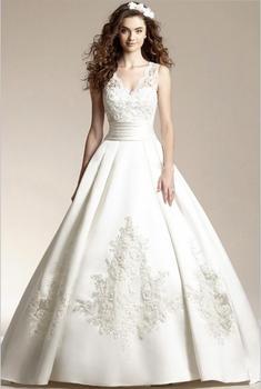 Vestido de noiva simple weddding dresses sweep long train white & Ivory elegant Bridal dress open back Wedding dresses robe de