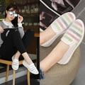 Женские Плоские Туфли Sapato женщина для 2 цвета Обувь Женщина Женщины Белые туфли Мода Шнурки Квартиры Мокасины Поскользнуться На