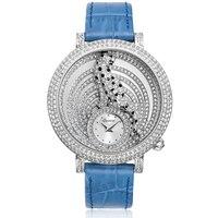 2018 новый Relogio Feminino женщина женские часы Водонепроницаемый часы лучший бренд Роскошные Кварцевые часы Полный Алмазный Гепард часы платье