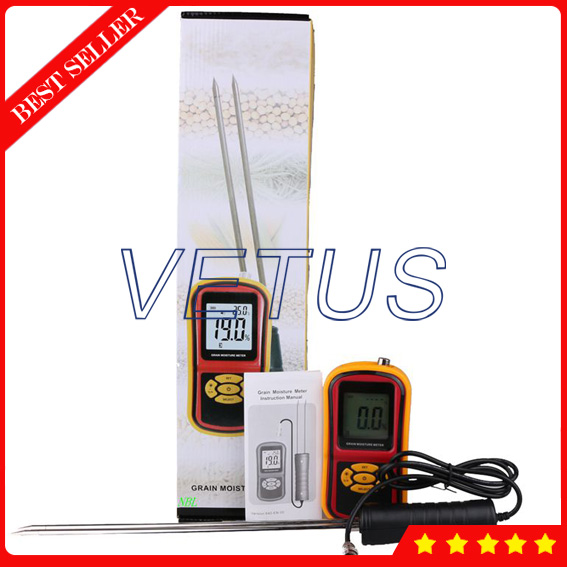 GM640 Portable Grain Moisture Meter Price mc 7806 digital moisture analyzer price with pin type cotton paper building tobacco moisture meter