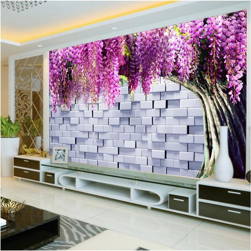 Beibehang Large Wallpaper Mural Custom Any Size Three: Beibehang Large Custom Wallpaper Mural 3D Cubic Brick Wall