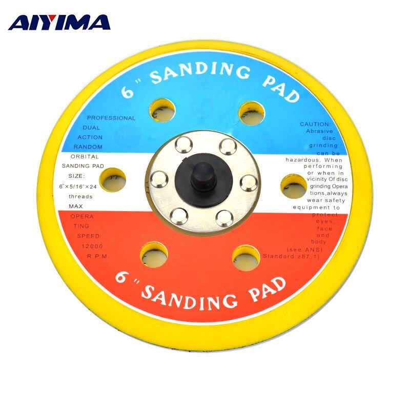 цена на AIYIMA 6 Inch Air Sanding Disc Polish Pad Air Sander With Vacuum Polishing Pad For 150mm Pneumatic Sander