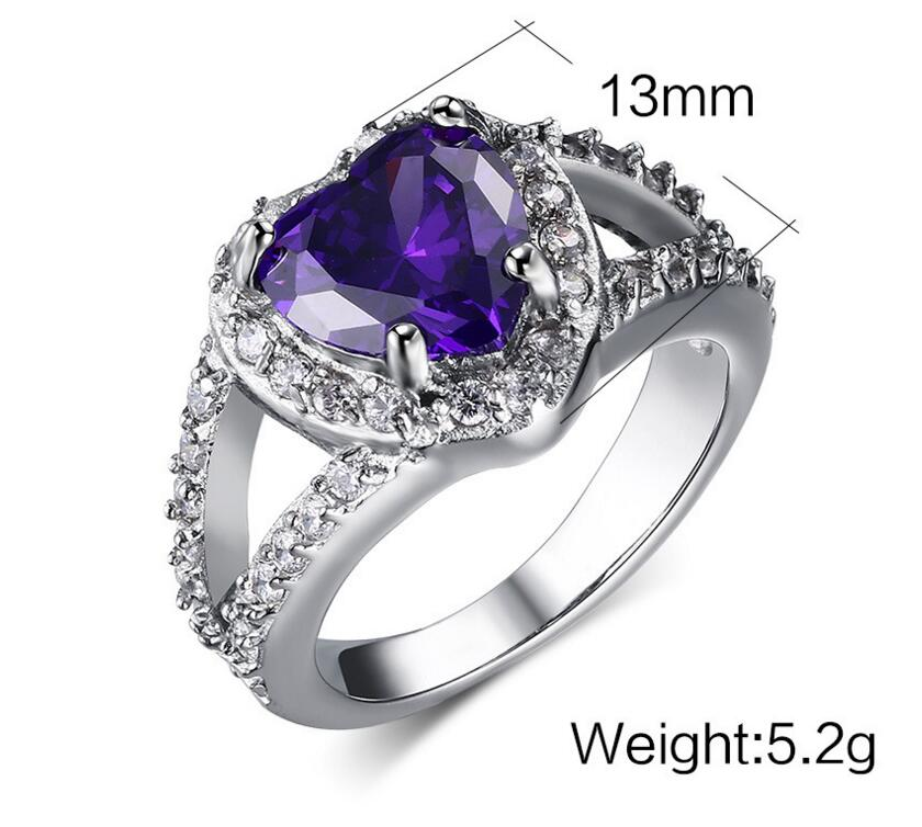 2016 Luxury Ring trillion ring settings Cushion Cut Prong Set Simulated Engagement Ring