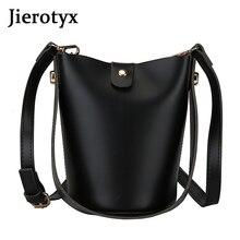 JIEROTYX Ladys Casual Large-capacity Handbag Solid Color Classic Fashion Bucket Bag Designer Luxury Handbags Women Bags