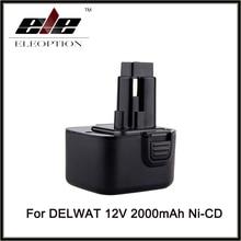 Recarregável de Ferramenta Substituição para Dewalt 12 V 2000 Mah Ni-cd Bateria de Poder Dc9071 De9037 De9071 Dw9072 De9075 De9501