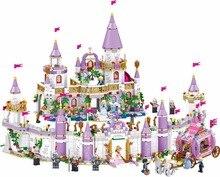 731pcs 왕자 윈저 캐슬 모델 빌딩 블록 호환 레깅스 친구 캐리지 피규어 교육 완구 소녀 어린이