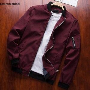 Image 3 - Erkekler bombacı ceket ince ince uzun kollu beyzbol ceketleri rüzgarlık fermuar rüzgarlık ceket erkek dış giyim marka giyim 6580