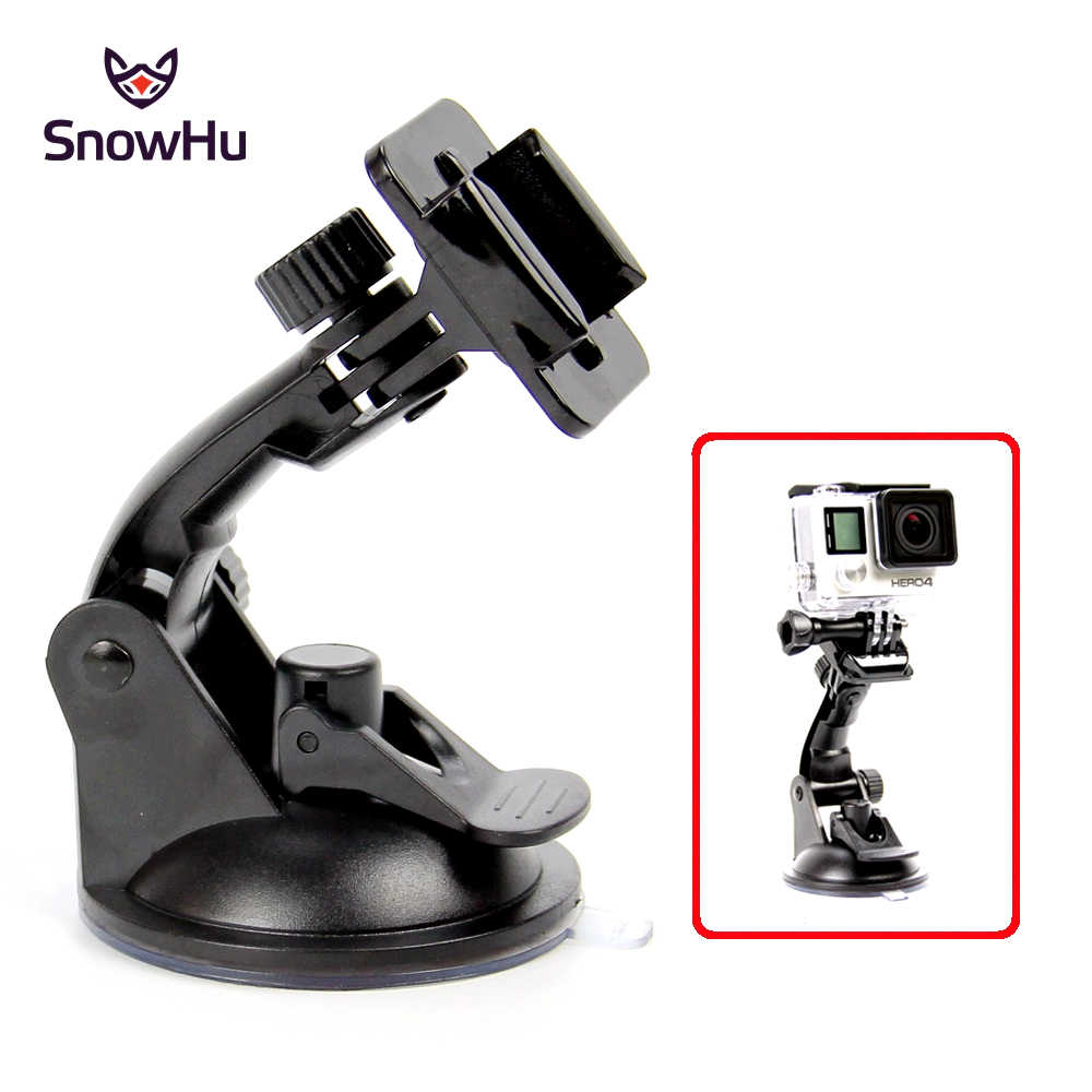 SnowHu 7CM Car Windshield Suction Cup For Gopro Hero 7 6 5 4  Session SJCAM SJ4000 h9 Xiaomi Yi 4K Camera With Base Mount GP17
