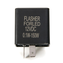 1PC 12V 2Pin Motorcycle Electronic LED Flasher Blinker Relay Turn Signal Lamp Indicator Flash Controller 34mm*34mm*25mm