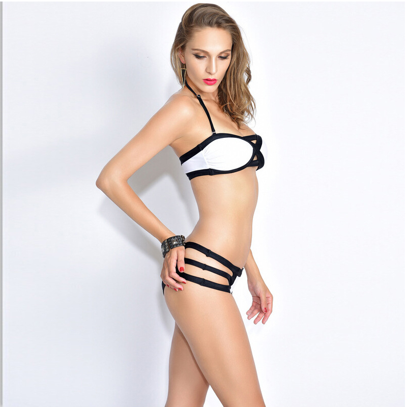 New sexy spider web bikini set women Europe and the United States a swimwear ladies were thin body swimsuit triangular high-end 1366 the price is not set please contact customer service to consult the exact price