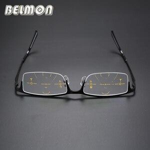 Image 5 - Multi Focale Progressieve Leesbril Mannen Titanium Frame Presbyopie Brillen Mannelijke Eyewear + 1.0 + 1.25 + 2.0 + 2.25 + 3.0 + 3.25 RS014